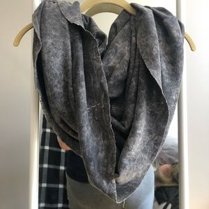 American Apparel acid wash jersey infinity scarf